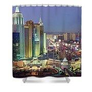 Vegas Skyline Shower Curtain