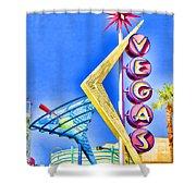 Vegas Street Art Shower Curtain