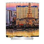 Vegas Water Show Shower Curtain