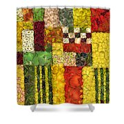 Vegetable Abstract Shower Curtain