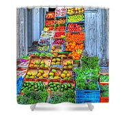 Vegetable And Fruit Stand Shower Curtain