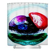 Vegetables And Gemstones Shower Curtain