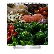 Vegetables In Chinese Market Shower Curtain
