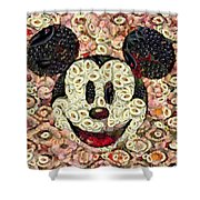 Veggie Mickey Mouse Shower Curtain