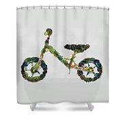 Green Yummy Bike Shower Curtain