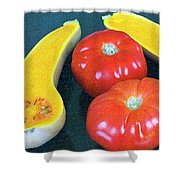 Veggies And Colors Shower Curtain