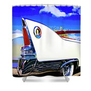 Vehicle Launch Palm Springs Shower Curtain