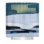 Vehicle Windshield Fresh Snow Thawing Shower Curtain