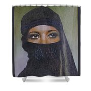Veiled Beauty  Shower Curtain