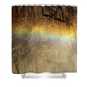 Veiled By A Rainbow Shower Curtain