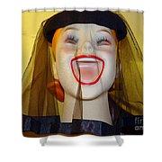 Veiled Laugh Shower Curtain