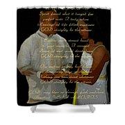 Vein Of Love Poem Shower Curtain