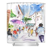 Velez Rubio Market 01 Shower Curtain