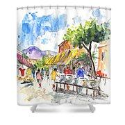 Velez Rubio Market 02 Shower Curtain
