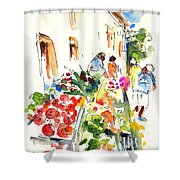 Velez Rubio Market 03 Shower Curtain