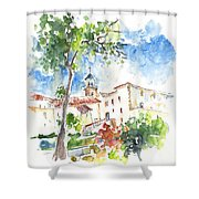 Velez Rubio Townscape 01 Shower Curtain
