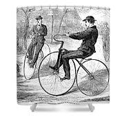Velocipedes, 1868 Shower Curtain