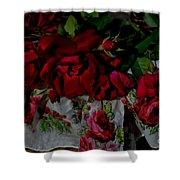Red Velvet Roses Shower Curtain