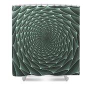Velveteen Vortex Gray Shower Curtain