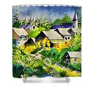 Vencimont Watercolor  Shower Curtain