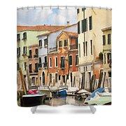 Venetian Apartments Impasto Shower Curtain