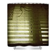 Venetian Blinds Shower Curtain by Les Cunliffe
