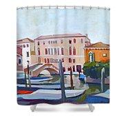 Venetian Cityscape Shower Curtain by Filip Mihail