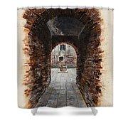 Venetian Courtyard 01 Elena Yakubovich Shower Curtain