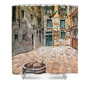 Venetian Courtyard 02 Elena Yakubovich Shower Curtain