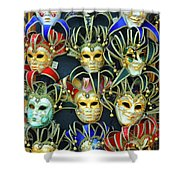 Venetian Opera Masks Shower Curtain