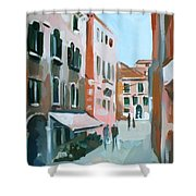 Venetian Street Shower Curtain