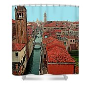 Venetian Street Scene Shower Curtain