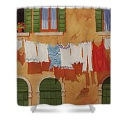 Venetian Washday Shower Curtain