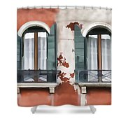 Venetian Window Shower Curtain