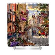 Venice Al Fresco Shower Curtain by Dominic Davison