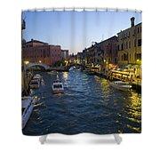 Venice At Dusk Shower Curtain