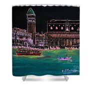 Venice At Night Shower Curtain