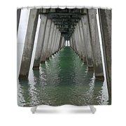 Venice Beach Pier Structure Shower Curtain