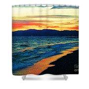 Venice Beach Sunset Shower Curtain