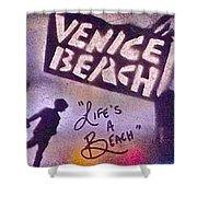 Venice Beach To Santa Monica Pier Shower Curtain