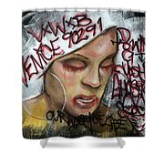 Venice Beach Wall Art 1 Shower Curtain