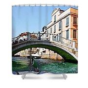 Venice Bridge Shower Curtain