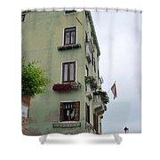 Venice Building Shower Curtain