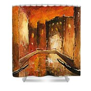Venice By Night 07 Shower Curtain