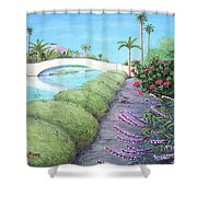Venice California Canals Shower Curtain