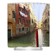 Venice Canal 3 Shower Curtain