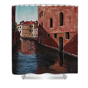 Venice Canal Shower Curtain by Darice Machel McGuire