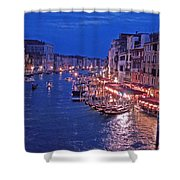Venice - Canale Grande By Night Shower Curtain