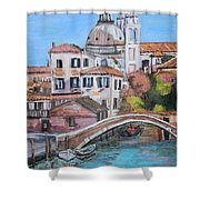 Venice Canals Shower Curtain