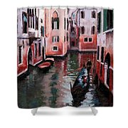 Venice Gondola Ride Shower Curtain by Janet King